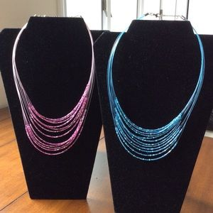 Jewelry - Layered Beaded Necklaces.  Beautiful colors. 💝💙
